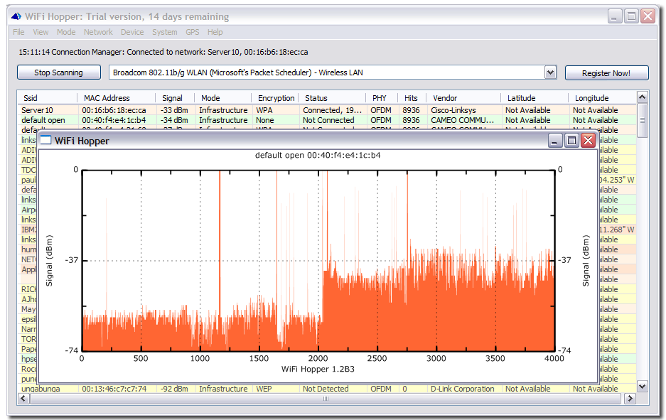 لكم اخواني اقدم برنامج لل Wireless Network   يعطيكم ادق التفاصيل WiFi Hopper